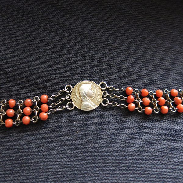 Turkey Istanbul – Constantinople Christian silver and coral bracelet