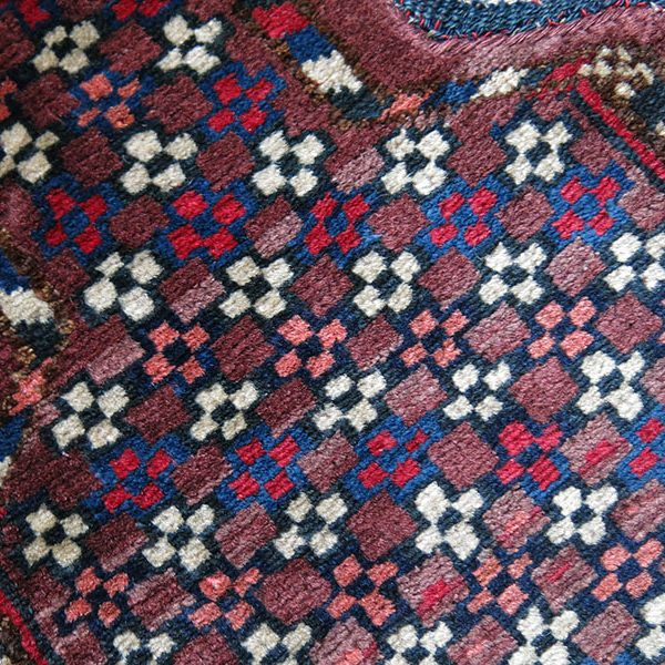Turkmenistan - Yomud tribal bicycle pile seat cover