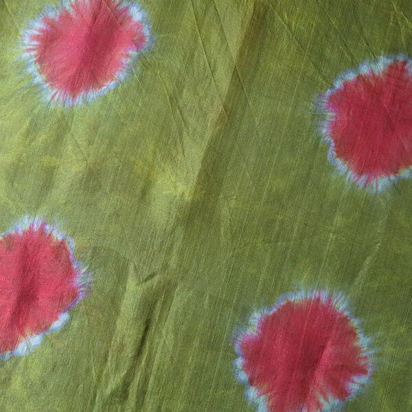 Uzbekistan Plangi, tie dyed hand loomed silk textile – shawl