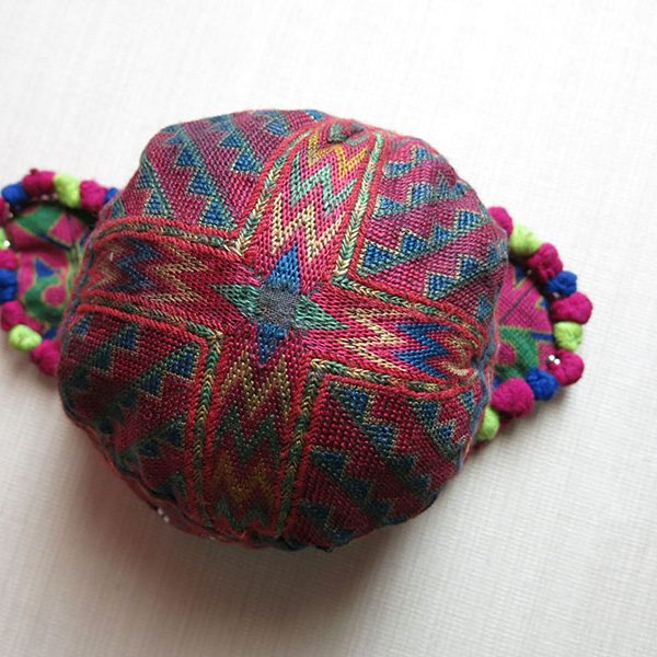 Pakistan Kohistan Swat Valley tribal silk child hat