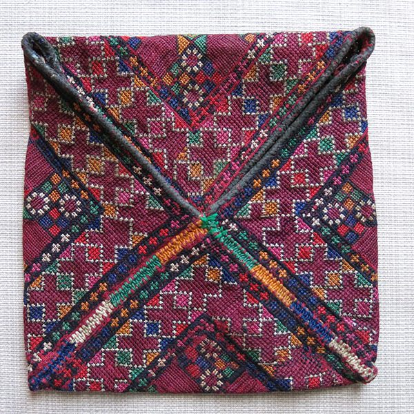 Afghanistan Baluch tribal silk embroidery envelope shape bag