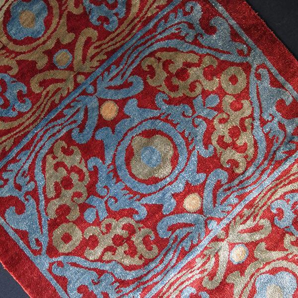 Uzbekistan - Fargana Valley - Silk pile pillow cover