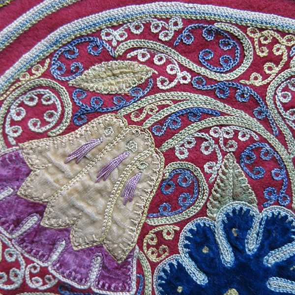 Persia - Rasht - decorative silk embroidery and velvet applique