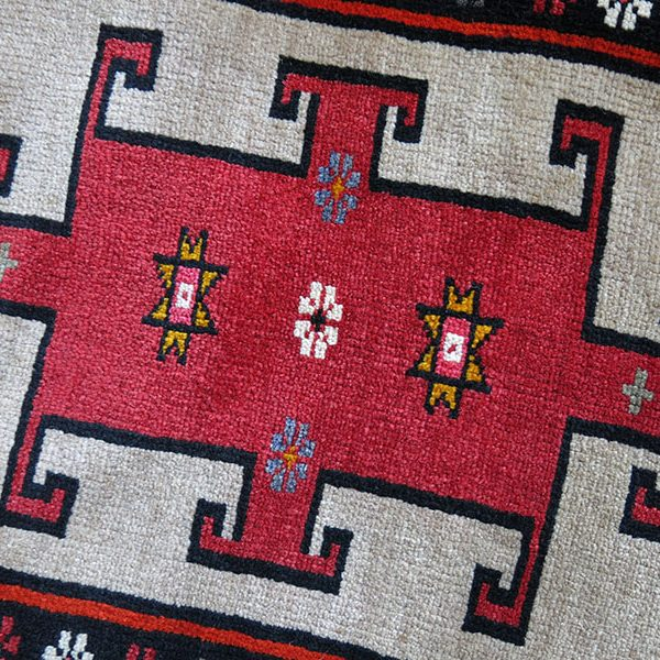 Eastern Turkey - Kars city, Kurdish tribal wool pillow cover