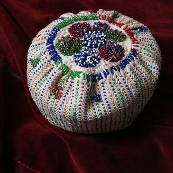 Anatolia Turkey - KUTAHYA - tribal beaded embroidery hat