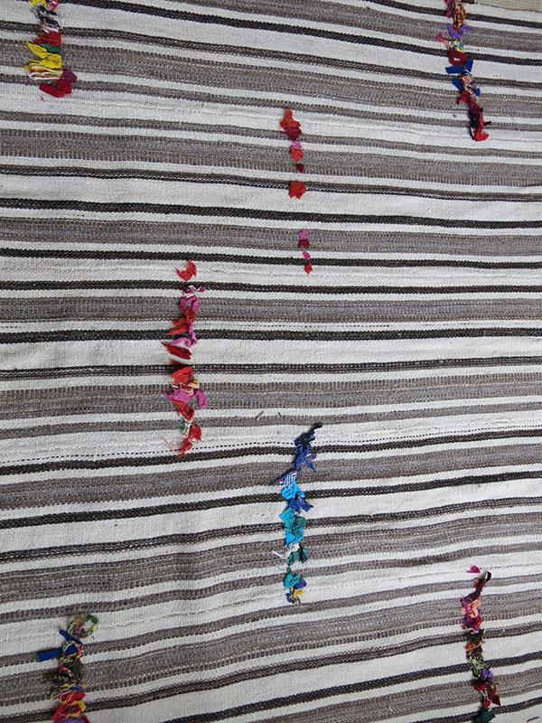 East Anatolia - Malatya - Adiyaman Kurdish tribal all wool hand woven bedding pile cover / Kilim