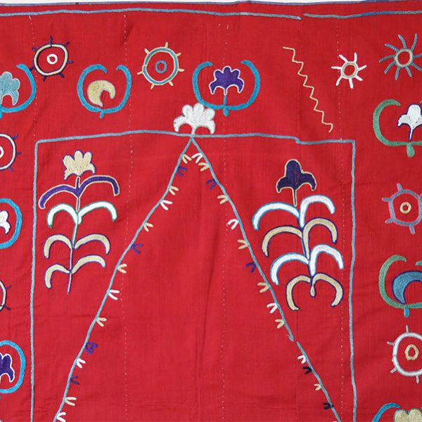 Tajikistan - LAKAI prayer wall hanging silk embroidered Suzani