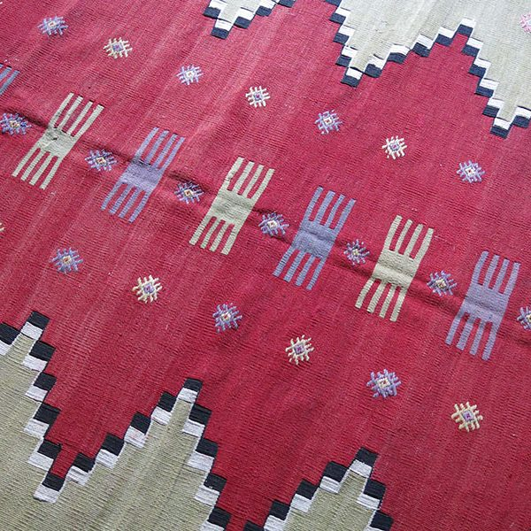 Turkey - Western Anatolia - GALLIPOLI CANAKKALE Avunya tribal hand woven old kilim