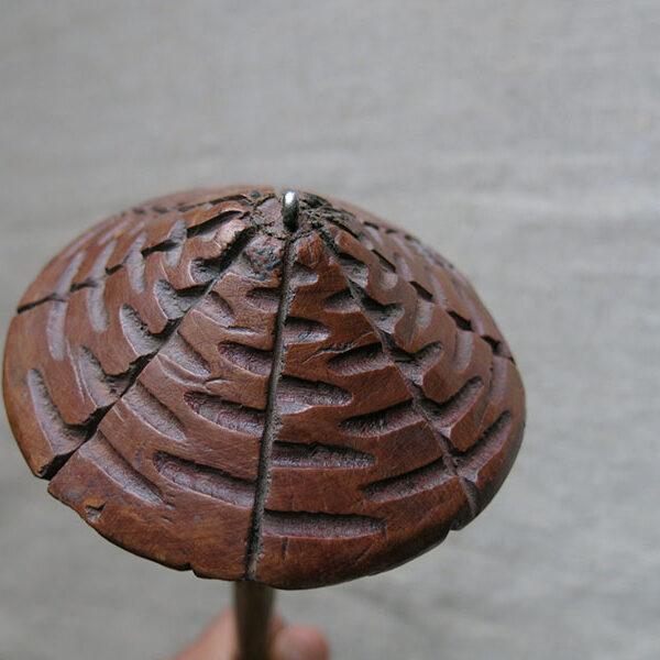 Afghanistan Turkmen TEKKE hand carved wooden drop spindle
