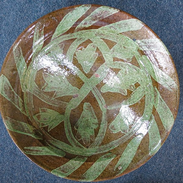 Anatolian - Canakkale – Kinik, Gallipoli antique glazed red clay bowl
