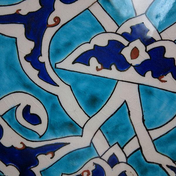 Anatolia - Kutahya Square Ottoman classical design ceramic