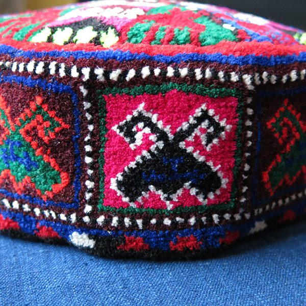 Afghanistan – possibly Pashtun hand woven tribal pile hat