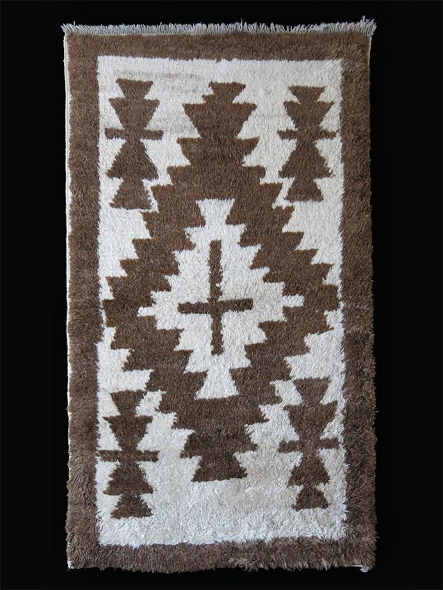 Anatolian – KONYA – Karapinar small all natural wool tribal rug
