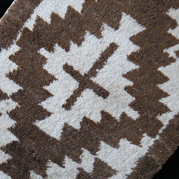 Anatolian – KONYA – Karapinar small all natural wool tribal rug