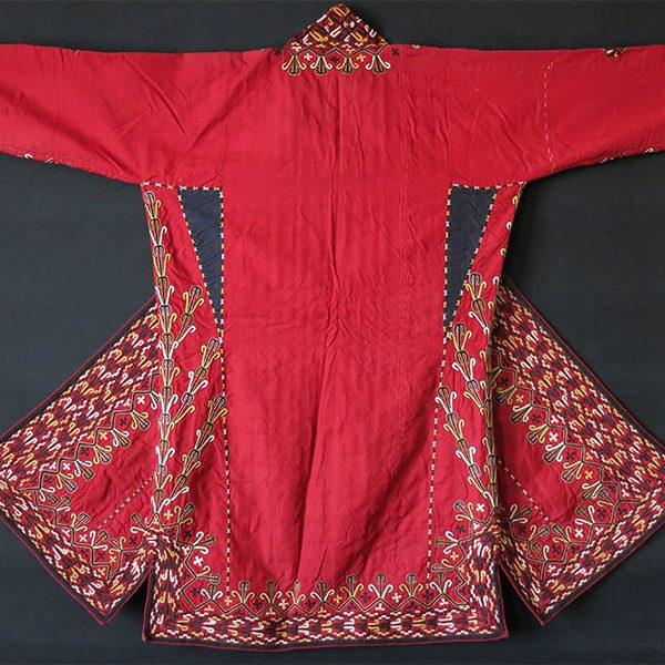 Turkmen TEKKE Silk embroidered tribal Chapan /Coat