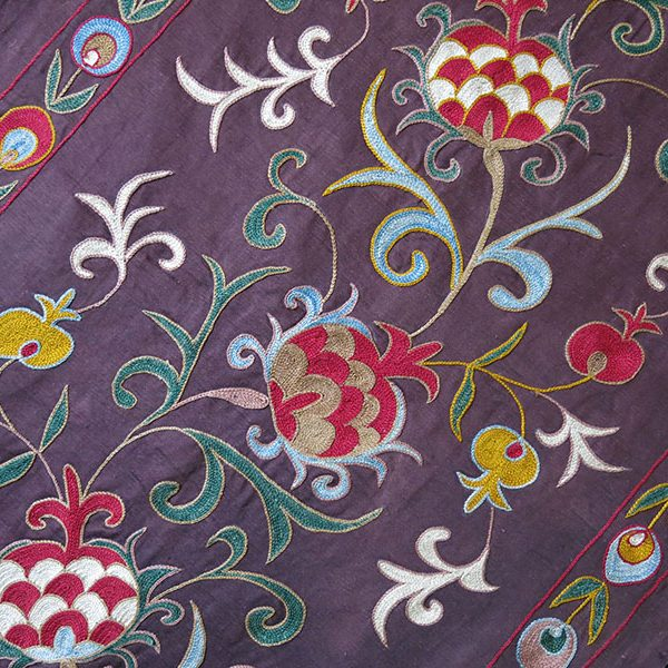 Uzbekistan - Fargan Valley Silk SUZANI wall hanging