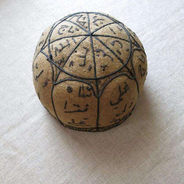 PERSIA - TEHRAN Antique dervish embroidered felt Hat / Kollah