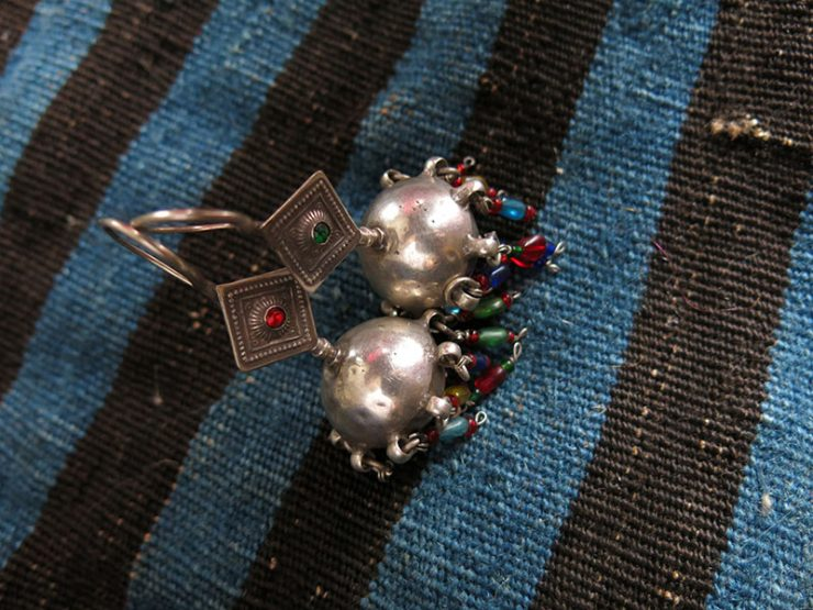 INDIA – PAKISTAN Antique hollow ethnic pair of earrings