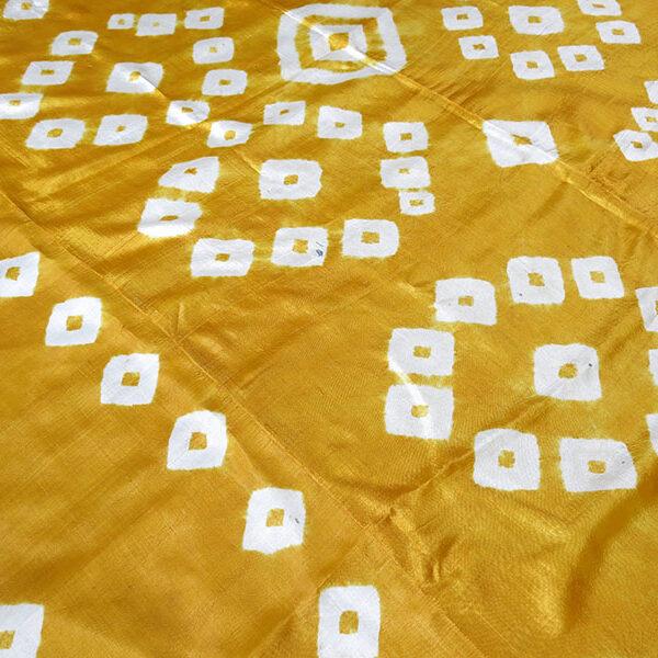 UZBEKISTAN – TASHKENT Plangi very fine hand loomed silk with Tie-dye