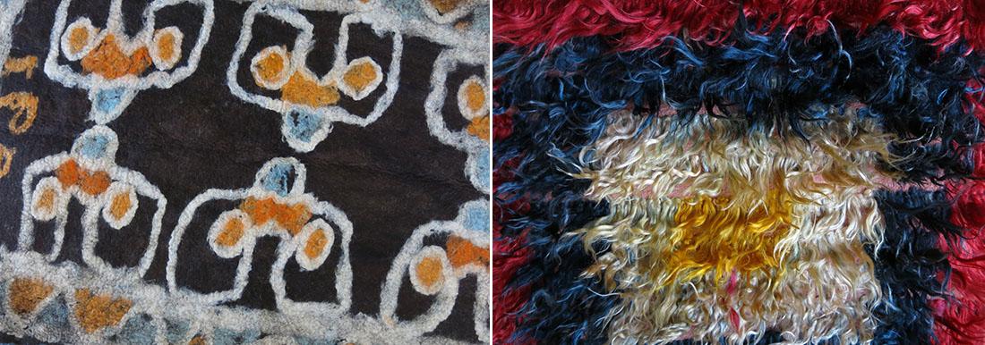 Anatolian Taurus mountain Turkmen felt, Anatolian angora tulu rug