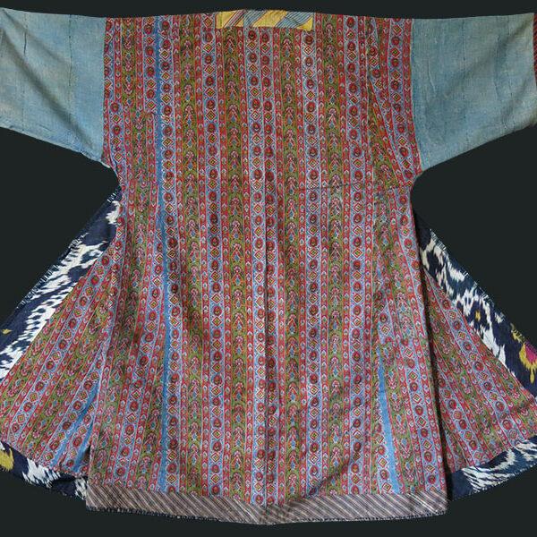 Tajikistan Shoi silk ikat Chapan /Robe