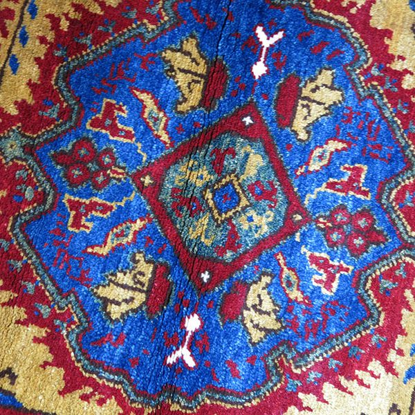 Anatolian - KONYA all wool with natural dyes small rug / Yastik