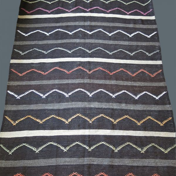 CENTRAL ANATOLIA - TURKEY Afyon tribal goat hair-Wool and cotton KILIM