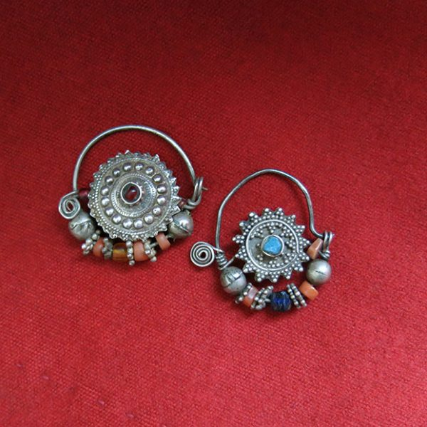 Indian Rajasthan antique silver nose rings