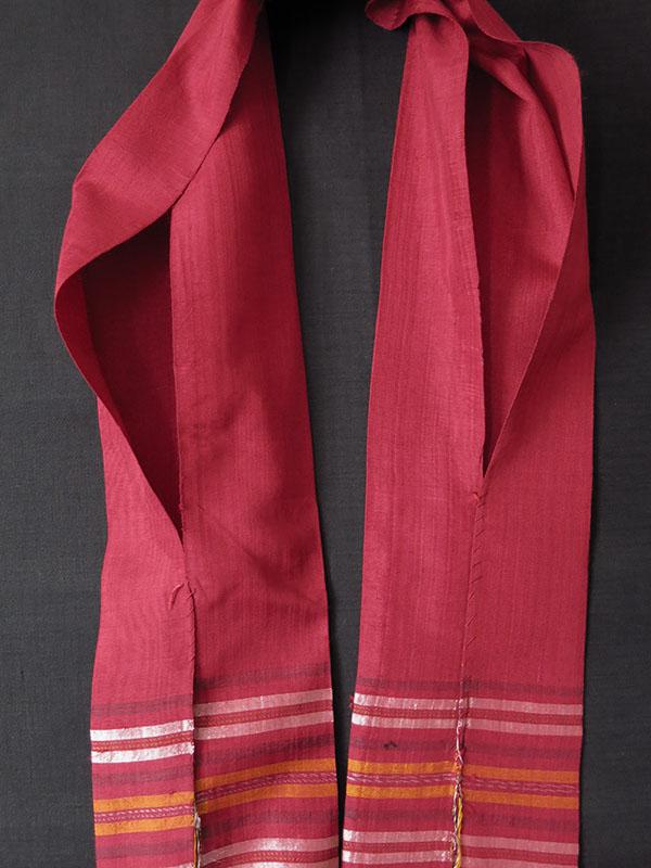 TURKMENISTAN - YOMUD tribal silk groom's wedding shawl