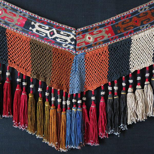 "Uzbekistan LAKAI tribal Segusha / Saye Gosha "" V "" shape bedding pile trapping"