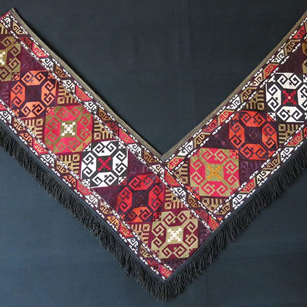 AFGHANISTAN - LAKAI Sagusha tribal bedding pile - silk embroidered wall hanging