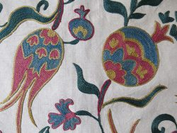 UZBEKISTAN Fargana valley fine silk embroidery pillow cover