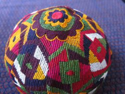 AFGHANISTAN AIMAQ Tribal Silk embroidered hat