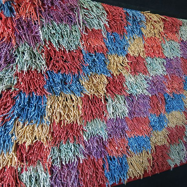 ANATOLIAN - BURSA - Silk tulu / Shaggy type woven old kilim hanging