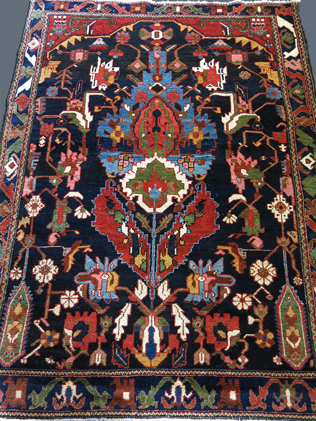 IRAN BAKTIARI tribal tree design wool on cotton village rug