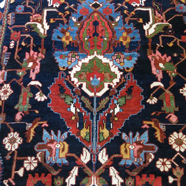 IRAN BAKTIARI tribal tree design wool on cotton village rug