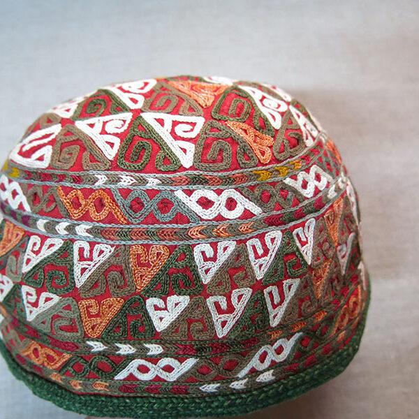 TURKMENISTAN - CHODOR tribal ceremonial large size hat