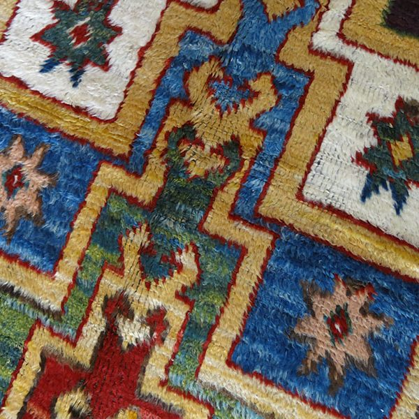 ANATOLIAN KONYA Karapinar step design prayer rug