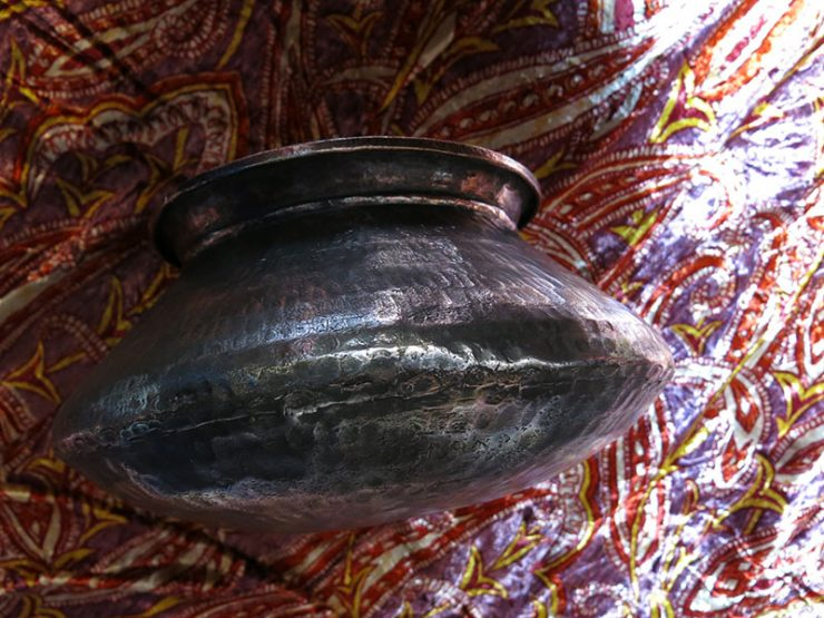 ANATOLIAN antique hand hammered copper Syrup / Sharbat bowl