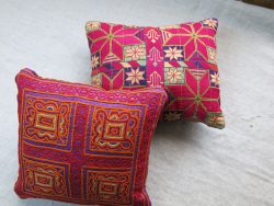 AFGHANISTAN PASHTUN silk embroidery pair of mini pillow covers
