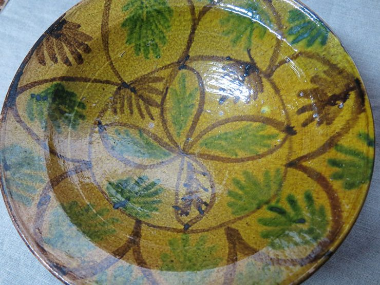 ANATOLIAN - TROY – Gallipoli - Canakkale glazed antique ceramic plate