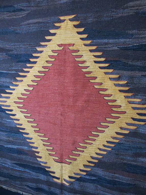 ANATOLIAN MERSIN Taurus Mountain Turkmen tribal all wool kilim