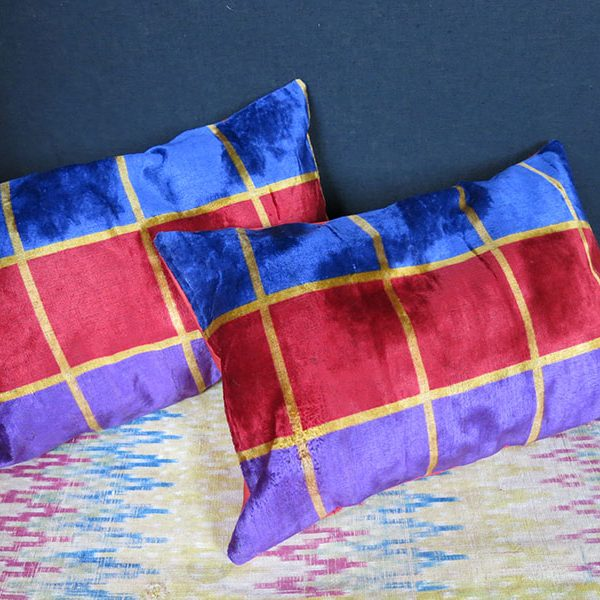 UZBEKISTAN BOKHARA velvet small pair of pillow covers