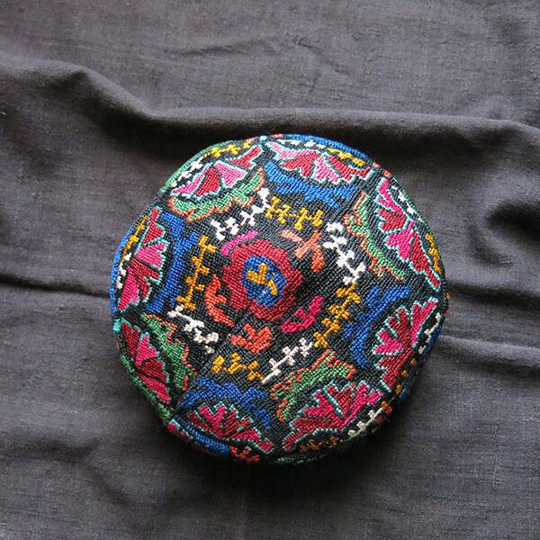 TAJIKISTAN - LAKAI tribal silk embroidered hat