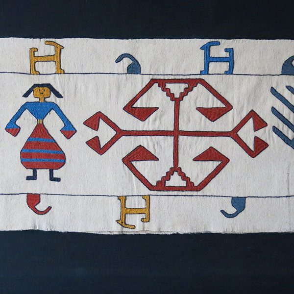 AZERBAIJAN - IRAN Shahsavan tribal embroidered wool tent band