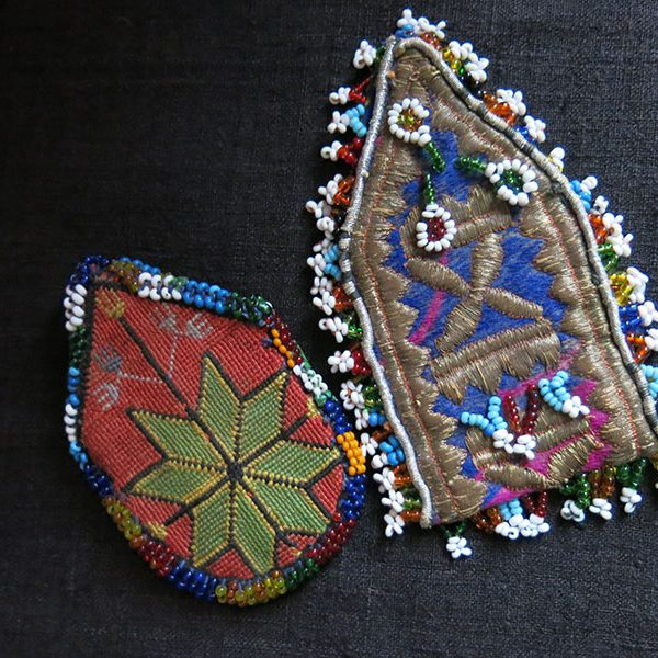 AFGHANISTAN tribal embroidered and beaded mini bags