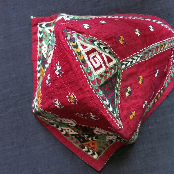 CENTRAL ASIA - TURKMEN Chodor tribal child hat