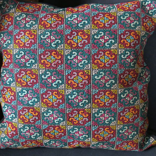 SYRIA / PALESTINE silk embroidered pillow cover