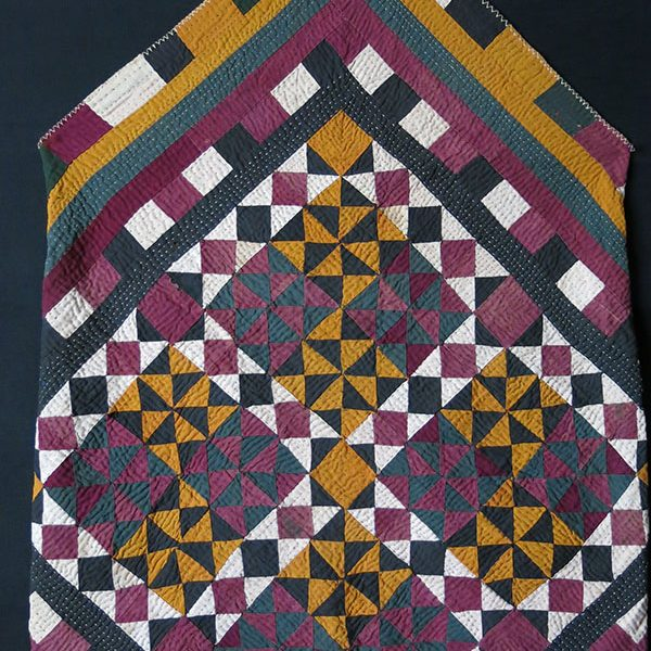 INDIA - quilted patchwork cotton Bokhca / vanity bag