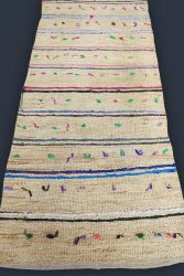 ANATOLIAN - WEST- AYDIN Gypsy Hand woven rush cane with wish tassels